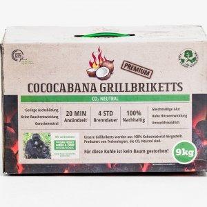 Cococabana Grill-Briketts im 9 kg Karton