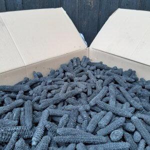 10 kg lose Maiskohle aus verkohlten Maisspindeln