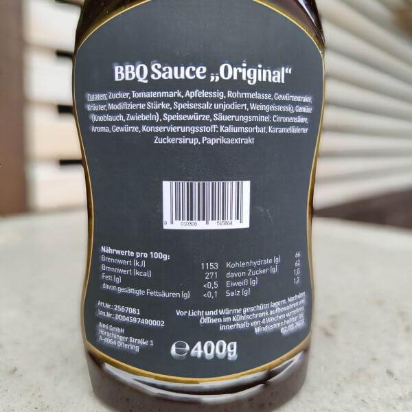 Cookloung BBQ Sauce Rückseite Österreich
